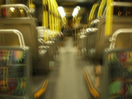 Blurry Bus, it just never ends by Judes143