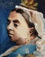 Minuscule Queen Victoria by Paintsmudger