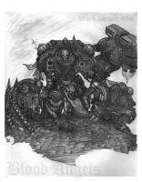 Blood Angels Sketch 2 by OffMath
