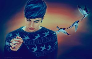 swallows by chouette-e
