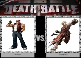 DEATH BATTLE IDEA Terry Bogard VS Ken MAsters by JefimusPrime
