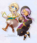 Fantasy Life - Yuelia and Noelia by YuzaHunter