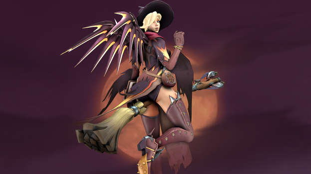 Witch Mercy 4 (4K) by CJWong34