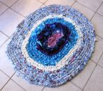 Oval Blues Rag Rug by Dragonrose36