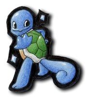 007 - Shiny Squirtle by TranquilSimplicity