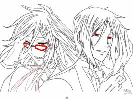 Sebastian and Grell: Tablet drawing by Ratlink