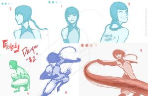 Foiled: Daiyu sketches by streaac