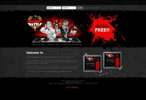 Web design: Music Battle login by SOSFactory