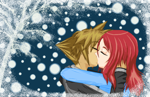 Winter Kiss by mcpikachu