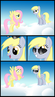 Derpy chilling - blank by ohthatandy