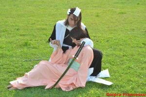 Cosplay - The Shinigami and the Hime by AngyValentine