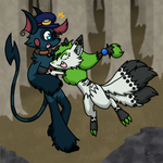 Surprise Hugs in the Forest by Night-Chimeras-Cry