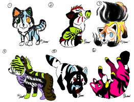 Chibi Wolf Adopts 6 by itsmar-Adopts