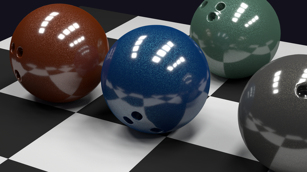 Sparkly Bowling Balls (texture experiment) by darenw