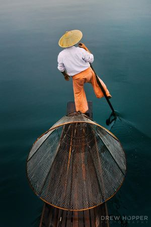 Inle Fisherman by DrewHopper