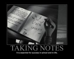 Taking Notes Motivational Poster by QuantumInnovator