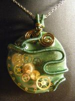 Steampunk in Green and Green by BacktoEarthCreations
