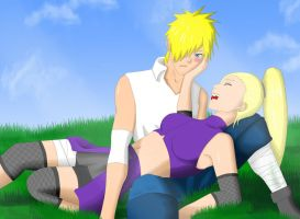 Naruto and Ino landscape by Nightmare626