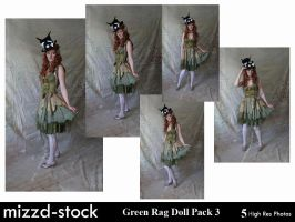 Green Rag Doll Pack 3 by mizzd-stock