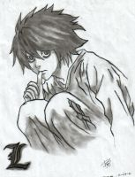 L from Death Note by: CBMD by Notetaker22