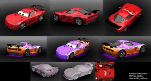 Cars 2 - Low poly game model by Shaka-zl