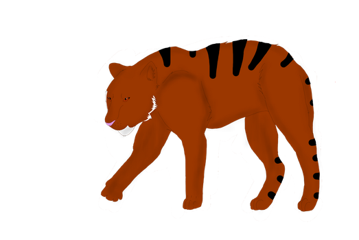tiger sketch thingy by Willow0000