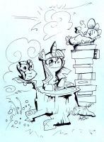 A Stack of Books by Maddie-the-Cattie