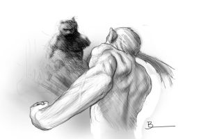 Fight sketch second by PeppeTi
