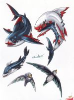 Fakemon Color Roughs 106-110 by TheCreationist