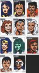 Colored version of DanCon Sketch cards from 2013 by SilverBolt14