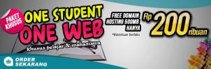 Promo Slide Banner One Student One Web by mbah-weng