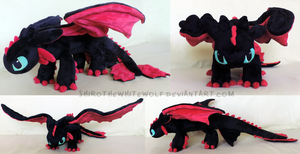 [PLUSHIE] Tao (Night Fury) by ShiroTheWhiteWolf