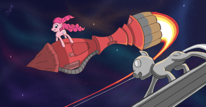 Pinkie and the sliver surfer by Zookz25