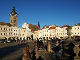Main Square in Ceske Budejovice03 by abelamario