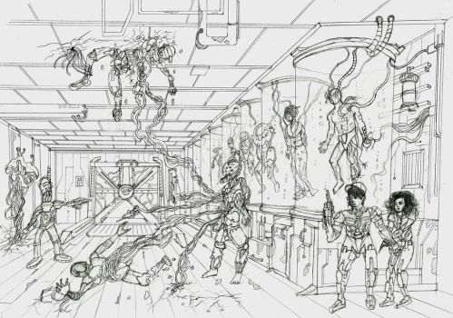 Figure In Perspective-Survivals In The Lab by CarsonDanzformer