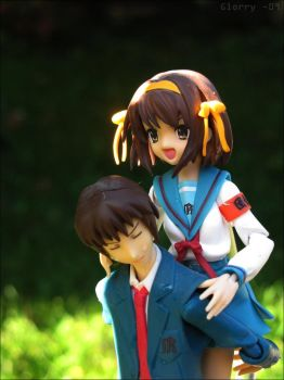 Haruhi and Kyon by Glorry