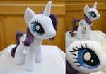 My Little Pony - Rarity plushie (for sale) by Nymeria-pixels