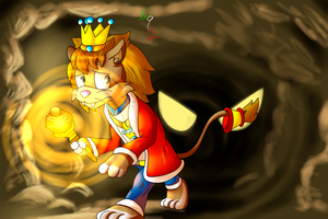 Art Trade: Lionel in a Cave by Waver92