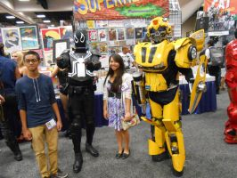 Agent Venom and Bumblebee with some fans by pa68
