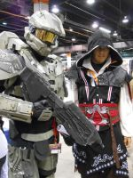 Master Chief and Ezio by SweetNSpice112