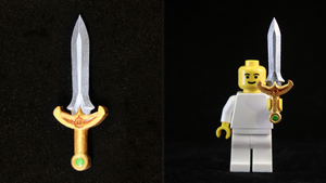 LEGO 3D Printed Painted Four Sword by mingles