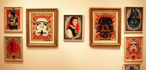 Wall of Star Wars for the fake opening. by epyon5