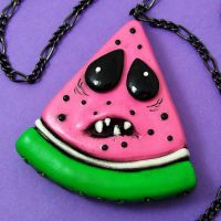 Watermelon Necklace - pointy by beatblack