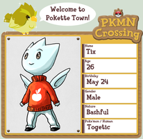 Pokemon Crossing App: Tix by cerasly
