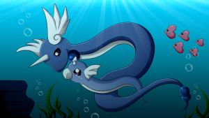 Don't cry little Dratini by CelestialRayna