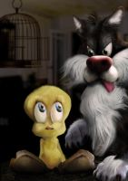 Tweety and Sylvester by bruno-sousa