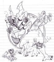 ben 10: aliens sketch by rubtox