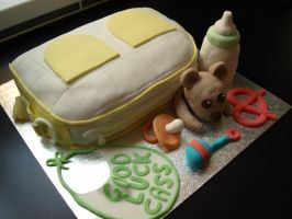 Baby Bage Cake by sparks1992