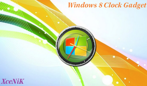 Windows 8 Clock Gadget by XceNiK
