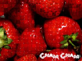 Wallpaper Fragole by Hermionina